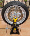 BMW 1150R Motorcycle Wheel Balancer